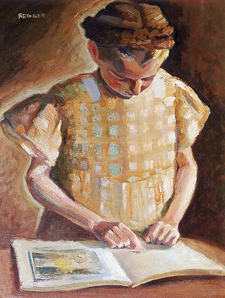 Nicole lisant- La petite liseuse